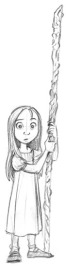 """""""A eighth son's eighth .... daughter. But she's still a wizard. She might look a bit young for eight here.."""" (Artist: Tealin)"""